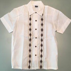 Gap Kids SS Patterned Button Down Shirt